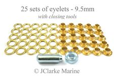 Boat Cover/Canopy Fittings - Eyelet kit 9.5mm with tools brass
