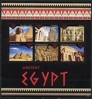 LIBERIA 2016 ANCIENT EGYPT  PYRAMIDS SPHINX TEMPLE OF RAMSES III SHEET MINT NH