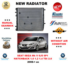 Pour Seat Ibiza Mk V 6J5 6P1 1.0 1.2 1.4 Tdi 2.0 2008- > Radiateur Neuf Qualité