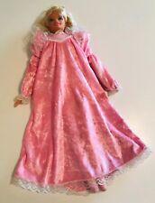 "Vintage Mattel 1995 Bedtime Barbie 18"" Plush Doll Pretty Dreams Barbie Pink"
