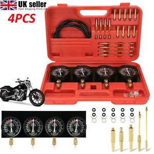 Motorcycle Carb Carburetor Vacuum Synchronizer Gauges Tool Balancer Gauge Kit