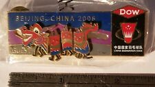 Dragon BADMINTON Dow Sponsor Olympic Pin BEIJING CHINA 2008 - Scarce! GUEST ONLY