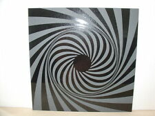 Handmade Art Sandblast Black Hole Swirl on Black Granite Tile  Gift ART