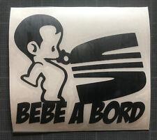 sticker autocollant bébé à bord humour seat leon ibiza altea toledo cordoba tdi