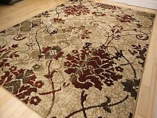 Modern Rug Contemporary Area Rugs Burgundy 8x10 Abstract Carpet 5x7 Flower Rugs