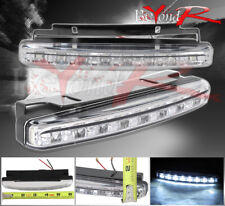 New 2X 8 Led 6000K White Car Driving Fog Lamp 12V Drl Daytime Running Light
