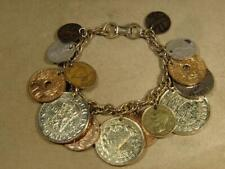 Vintage Coro Gold Tone World Coin Bracelet