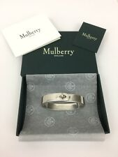 Mulberry Bayswater Metal Slim Bracelet Bangle - New Silver - S RRP £250 New