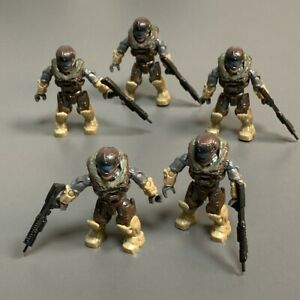 Lot 5 Mega Bloks Construx Halo UNSC SPARTAN MASTER CHIEF Figures toys & Gun #p1