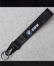 BMW BLACK Keychain Wrist Lanyard with Metal Keyring - FREE SHIPPING