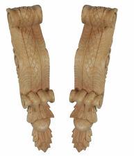 Lattice Bracket Corbels, Hand Carved, Matching Pair in Pine Wood PN529