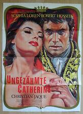 Ungezähmte Catherine - Sophia Loren / Robert Hossein - A1 Plakat