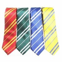 Novelty Style Neckties For Men Polyester Pure Colors Striped Pattern Fashionable