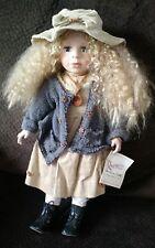 "Rare Duck House Heirloom Porcelain Doll ""Monica"" and COA"