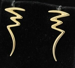 Tiffany & Co. Paloma Picasso 18K yellow gold zig-zag earrings
