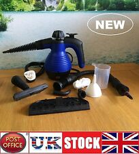 Electric Steam Cleaner Portable Hand Held Powerful Steamer Cleaning Set BLUE