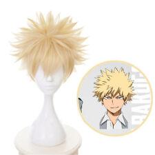 1pc My Hero Academia Boku no Hero Bakugou Katsuki Blonde Short Hair Cosplay Wig