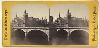 Parigi Palais Da Justice Foto Charles Gaudin Stereo Vintage Albumina c1865