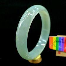 【JadeiteBird】57.6mm Certified 100% Natural Grade A Jadeite Jade Bracelet Bangle