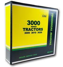 John Deere 3010 & 3020 Tractor Technical Service Repair Manual Book - TM2038