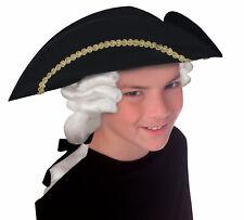 Forum Novelties Colonial Tricorn Child Wig Hat Halloween Costume Accessory 57500
