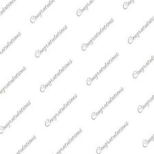 Silver Congratulations Tissue Paper on White # 515 - 10 Large Sheets