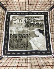 Tennis Apparel Collector Fashion Us Open Vintage Silk Scarf Kenwood Country Club