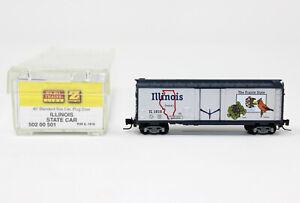 Z Scale Micro-Trains 502 00 501 ILLINOIS State 40' Standard Plug Door Box Car