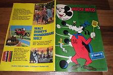 MICKY MAUS # 44 v. 31.10.1970 -- Klappseiten+Sammelbild BORUSSIA MÖNCHENGLADBACH