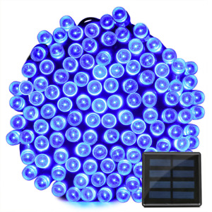 Solar 100 LED String Lights Christmas Round Blubs Wedding Party Lamp 40FT