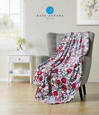 Kate Aurora Watercolored Floral Ultra Plush Oversized Fleece Throw Blanket Cover