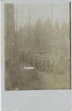 Foto Feldgraue / Soldaten im Argonnenwald   1917 (R764)