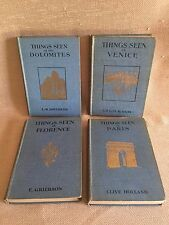 "Vintage ""THINGS SEEN IN"" tourist books: Florence, Paris, Dolomites, Venice"