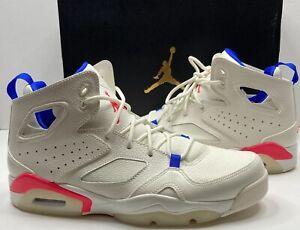 Nike Air Jordan Flightclub '91 Size US 8.5 Color: Sail/Pink/Blue 555475-125
