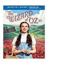 The Wizard of Oz - Judy Garland (Blu-ray 3D + Blu-Ray , 2013, 2-Disc Set)  NEW!!