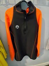 New listing Sharkskin Chillproof Performance Top Men's Long Sleeve 4Xlarge, Orange/Black
