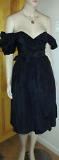 Positive Influence black taffeta dress size 5/6 small  black taffeta