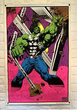 1996 Hulk 23 x 35 Marvel Comics Black Light Poster Avengers 1990's Marvelmania