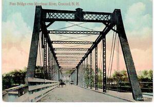 Concord Free Bridge Merrimac River 1910 NH