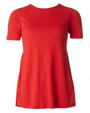 HUGO BOSS Women's Taplisse Pleat Back T-Shirt Red 10 S