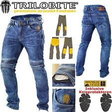 TRILOBITE Motorrad Jeans MICAS URBAN HERREN Slim Fit blau inkl Protektoren 34/32
