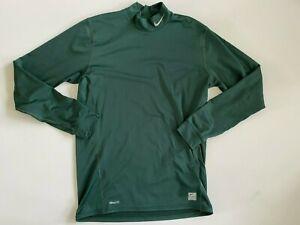 Nike Mock Neck Long Sleeve Base Layer Fleece Active Shirt Men's Large