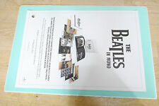 The Beatles in MONO Official FOLDED POSTER*