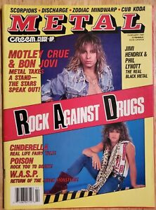 METAL CREEM CLOSE UP FEBRUARY 1987 iron maiden motley crue poison bon Jovi wasp