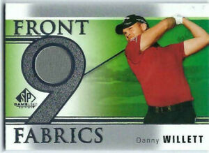 DANNY WILLETT 2021 UD SP GAME USED GOLF SHIRT PATCH FRONT 9