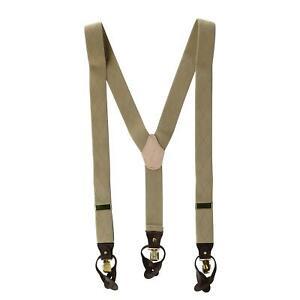 New Ascentix Men's Elastic Diamond Pattern Dress Suspenders with Button-Ends