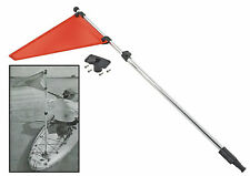 Kayak Safety Flag, With Base & 48 inch Telescopic Pole, Easily Seen by Boaters!