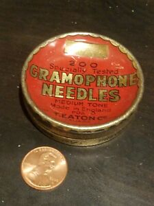 Gramophone phonograph needle tin nadeldose T. EATON CANADA medium