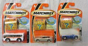 3 Different Matchbox Vehicles - Treasure Inside                          Diecast