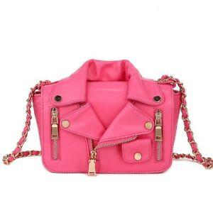Designer Motor Jacket Bags Womens Handbag Pu Leather Messenger Trendy Bag YHU85